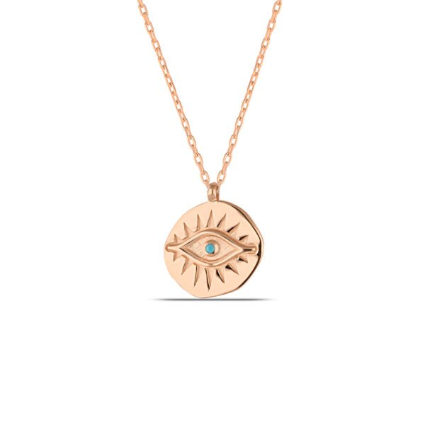 Coin Necklace in Rose Gold