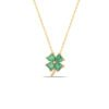 Ana Four Leaf Clover Necklace with Green CZ