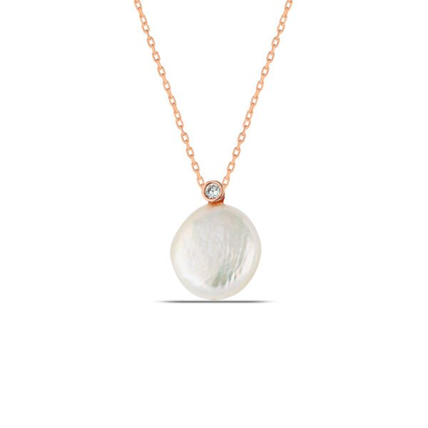 Pearl Necklace in Rose Gold
