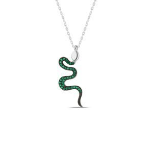 Snake Necklace in Silver