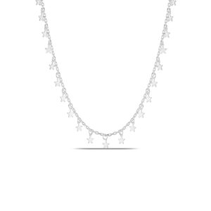 Star Choker Necklace in Silver