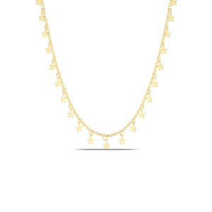 Star Choker Necklace in Gold