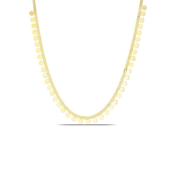 Dangling Choker Necklace in Gold