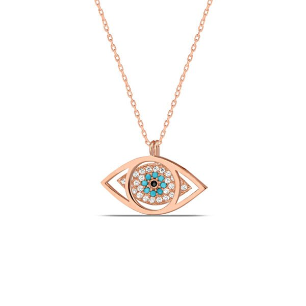 All Seeing Eye Necklace in Rose Gold