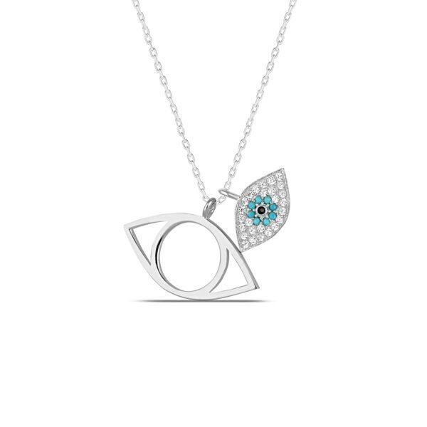 All Seeing Eye Necklace in Silver