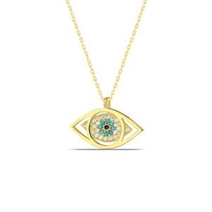 All Seeing Eye Necklace in Gold