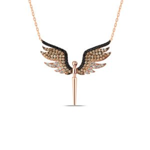 Angel Wings Necklace in Rose Gold